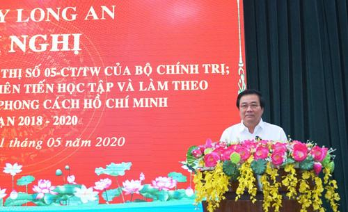 Bí thư Tỉnh ủy Phạm Văn Rạnh đề nghị các cấp ủy, chính quyền, địa phương, đơn vị trong tỉnh cần tiếp tục quán triệt Chỉ thị số 05