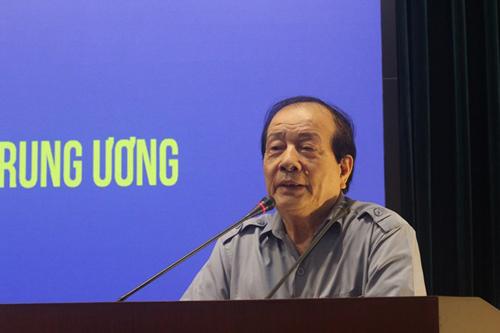 Nhà thơ Hữu Thỉnh, Chủ tịch Hội Nhà văn Việt Nam. (Ảnh: Minh Anh/Vietnam+)